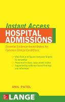 LANGE Instant Access Hospital Admissions - LANGE Instant Access (Paperback)