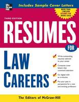 Resumes for Law Careers (Paperback)