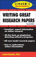 Schaum's Quick Guide to Writing Great Research Papers - Schaum's (Paperback)