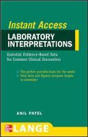 Lange Instant Access Laboratory Interpretations (Paperback)