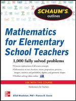 Schaum's Outline of Mathematics for Elementary School Teachers (Paperback)