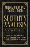 Security Analysis: Sixth Edition, Foreword by Warren Buffett (Limited Leatherbound Edition) (Hardback)