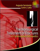 The Nonsurgical Treatment of Fractures in Contemporary Orthopedics (Hardback)