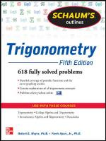 Schaum's Outline of Trigonometry: 618 Solved Problems + 20 Videos (Paperback)