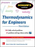 Schaums Outline of Thermodynamics for Engineers (Paperback)