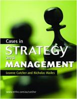 Cases in Strategy and Management (Paperback)
