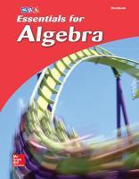 Essentials for Algebra, Student Workbook - ESSENTIALS FOR ALGEBRA (Paperback)