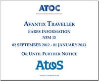 Avantix traveller fares information NFM 13: 20 September 2012  - 1 January 2013 or until further notice (CD-ROM)