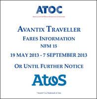 Avantix traveller fares information NFM 15: 19 May 2013  - 7 September 2013 or until further notice (CD-ROM)