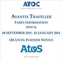 Avantix traveller fares information NFM 16: 8 September 2013  - 1 January 2014 or until further notice (CD-ROM)