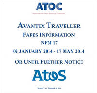 Avantix traveller fares information NFM 17: 02 January 2014 - 17 May 2014 or until further notice (CD-ROM)