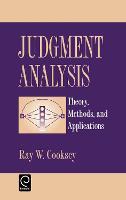 Judgement Analysis: Theory, Methods and Applications (Hardback)
