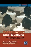 Assessment and Culture: Psychological Tests with Minority Populations - Practical Resources for the Mental Health Professional (Hardback)