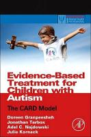 Evidence-Based Treatment for Children with Autism: The CARD Model - Practical Resources for the Mental Health Professional (Paperback)
