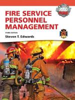 Fire Service Personnel Management with MyFireKit - Introduction to Fire and Emergency Services Administration (Hardback)