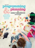 Programming and Planning in Early Childhood Settings (Paperback)