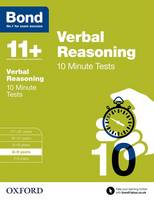 Bond 11+: Verbal Reasoning: 10 Minute Tests: 8-9 years - Bond 11+ (Paperback)