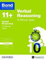 Bond 11+: Verbal Reasoning: 10 Minute Tests: 9-10 years - Bond 11+ (Paperback)