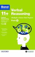 Bond 11+: Verbal Reasoning: Multiple-choice Test Papers: Pack 2 - Bond 11+ (Paperback)