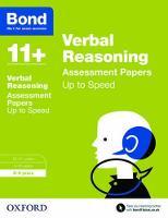 Bond 11+: Verbal Reasoning: Up to Speed Papers: 8-9 years - Bond 11+ (Paperback)