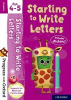 Progress with Oxford: Starting to Write Letters Age 4-5 - Progress with Oxford