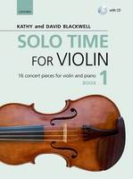 Solo Time for Violin Book 1 + CD: 16 concert pieces for violin and piano - Fiddle Time (Sheet music)