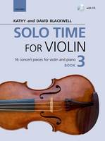 Solo Time for Violin Book 3 + CD: 16 concert pieces for violin and piano - Fiddle Time (Sheet music)