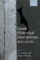 Greek Historical Inscriptions, 404-323 BC