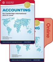 Accounting for Cambridge International AS & A Level Print and Online Student Book Pack