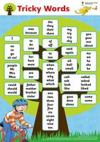 Oxford Reading Tree: Floppy's Phonics: Sounds and Letters: Tricky Words Poster - Oxford Reading Tree: Floppy's Phonics: Sounds and Letters (Poster)