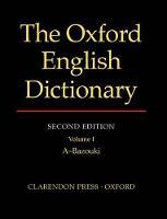 The Oxford English Dictionary (Hardback)