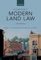 Thompson's Modern Land Law (Paperback)