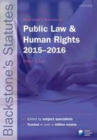 Blackstone's Statutes on Public Law & Human Rights 2015-2016 - Blackstone's Statute Series (Paperback)