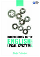 Introduction to the English Legal System 2016-17 (Paperback)