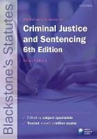 Blackstone's Statutes on Criminal Justice & Sentencing