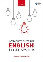 Introduction to the English Legal System 2017-2018 (Paperback)