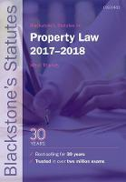 Blackstone's Statutes on Property Law 2017-2018