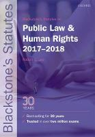 Blackstone's Statutes on Public Law & Human Rights 2017-2018