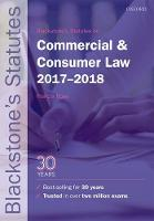 Blackstone's Statutes on Commercial & Consumer Law 2017-2018