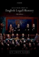 Introduction to English Legal History (Paperback)
