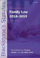 Blackstone's Statutes on Family Law 2018-2019