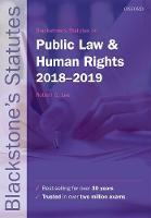 Blackstone's Statutes on Public Law & Human Rights 2018-2019