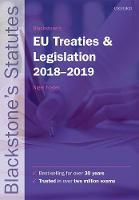 Blackstone's EU Treaties & Legislation 2018-2019