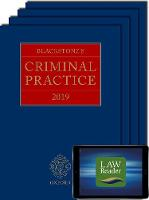 Blackstone's Criminal Practice 2019 (Book, All Supplements, and Digital Pack)