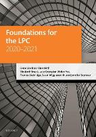 Foundations for the LPC 2020-2021