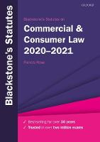 Blackstone's Statutes on Commercial & Consumer Law 2020-2021