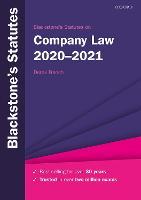 Blackstone's Statutes on Company Law 2020-2021
