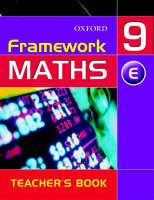 Framework Maths: Year 9: Extension Teacher's Book: Extension Teacher's Book Year 9 (Paperback)