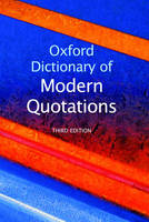 Oxford Dictionary of Modern Quotations (Hardback)