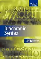 Diachronic Syntax - Oxford Textbooks in Linguistics (Paperback)